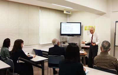 Professor Emeritus Hoshin Nakamura teaches the English language two-semester course that provides students good, deep understanding of Ryukyu Islands in all aspects of life in the island prefecture.