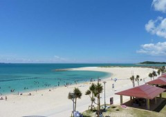 Chura Sun Beach in Toyosaki is the largest man-made beach on the island.