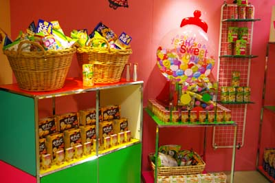Visitors to Hapinaha's 'Candy Room' have 90 seconds to grab as much Japanese candy and snacks as they can carry.