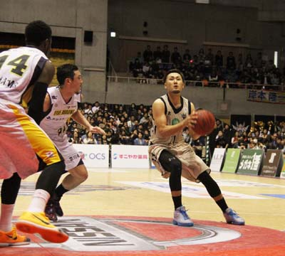 Shuhei Kitagawa had a 27-point game on Sunday that included five 3-pointers.