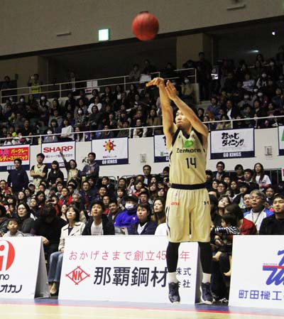 Kishimoto sank eight 3-pointers, five from inside he arc and seven of his eight free throws.