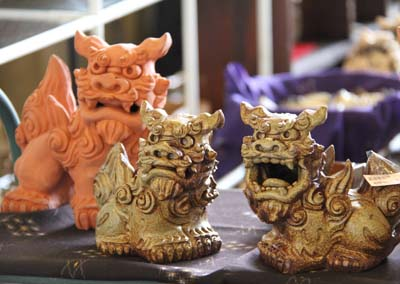 Shisa comes in all sizes and colors.
