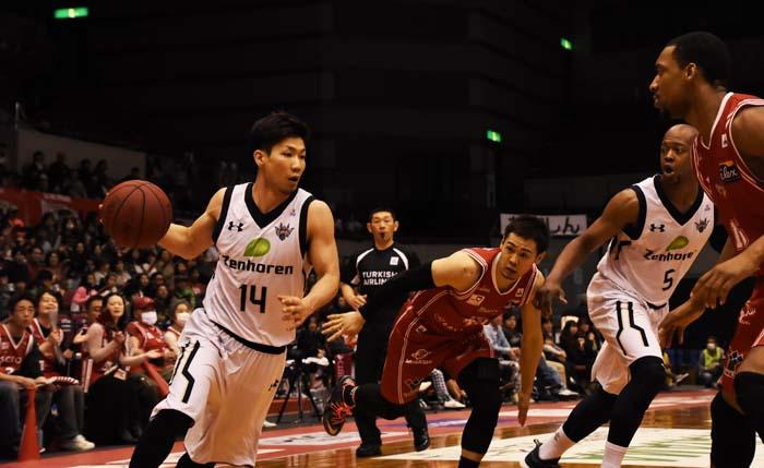 Ryuichi Kishimoto scored 14 points on Sunday.