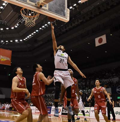 Shuhei Kitagawa poured in team-high 16 points on Sunday.