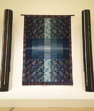 Shimura's textiles are all one of a kind.