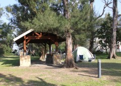 Miraikan's camping area has a camping are with full range of amenities, such as barbeque pits, showers and running water and power.