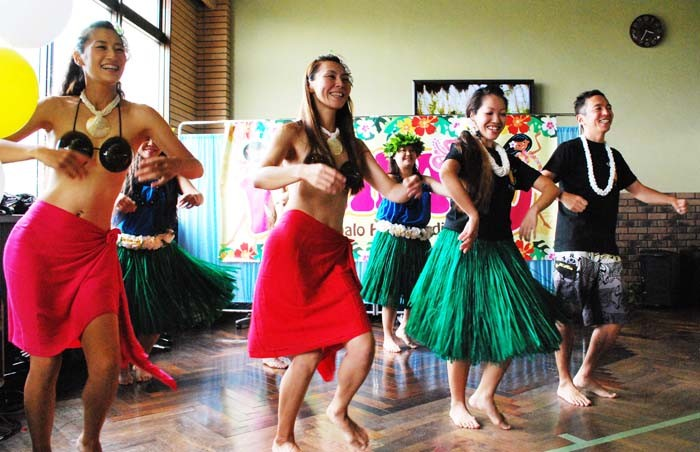 Sunday's program includes Hawaiian hula and other live performances.