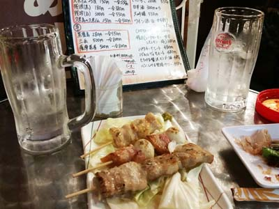 Typical 'Sembero' set consists of a couple of drinks and a snack, like a couple of sticks yakitori or other inexpensive pub fare.