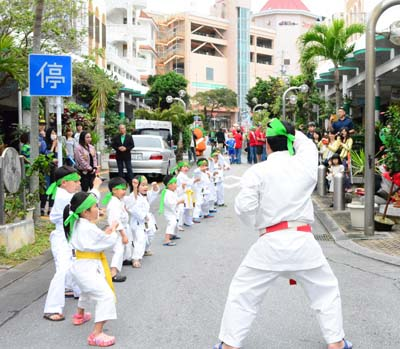 Besides music, others like this Children's karate group perform, too.