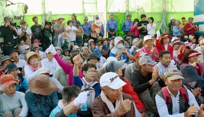 People in northern Okinawa have protested against U.S. military installations in the area continuously over 10 years, first against the construction of helipads in Takae, and then expanded against the Henoko replacement plan for MCAS Futenma.