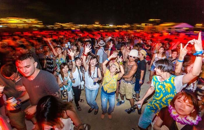 Corona Sunsets Festival takes place this weekend at Chura Sun Beach in Tomigusuku.