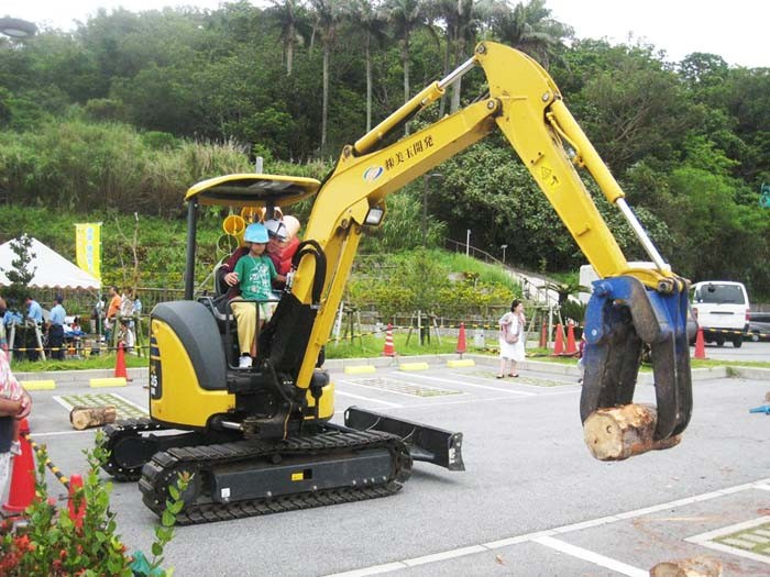 How many of us have not dreamed of operating a real backhoe?