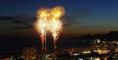 Nago City traditionally organizes one of the best fireworks show for its Summer Festival.