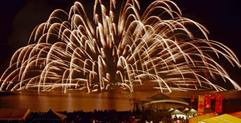 Chatan Seaport Carnival fireworks take pride of delivering the biggest bang of them all.