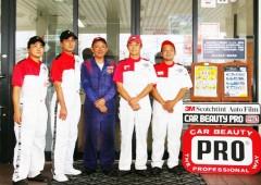 From left, Junya Oshiro, Seiichi Yamauchi, Naoki Takashige, Seijyun Uechi, and Yasuhide Tanaka.