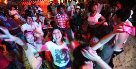 Torii Beach invites folks to party on two consecutive weekends.