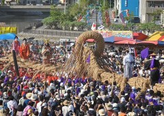 Yonabaru tug-of-war is the first of the three giant tug-of-war festivals held annually on Okinawa.