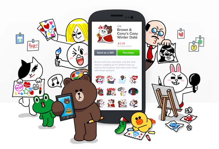 A big attraction for LINE users is a wide variety of characters that can be used to beef up chatting.