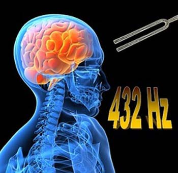 432Hz has been proven to be in harmony with a human physiology.
