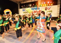 Hagoromo Festival is famous for its dance shows, such as the Kachashi Tournament on Sunday.