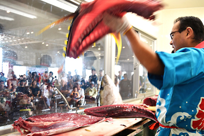 Tuna cutting show in Itoman is the best one can see on Okinawa.