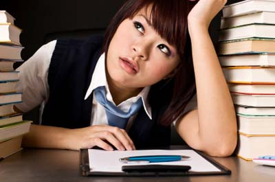 Japanese students continue grinding their noses to the books summer vacation or not.