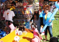 Visitors enjoy games at last year's Camp Hansen Festival.