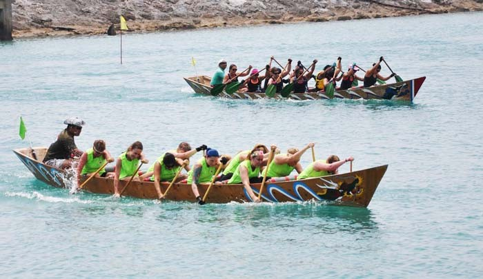 Dragon boat races are a tradition at White Beach festivals.