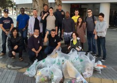 People from various organizations get together once a month to clean the Gate 2 Street area from trash and garbage.
