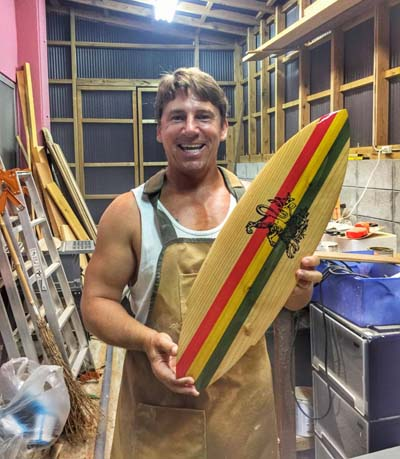 James in his workshop.