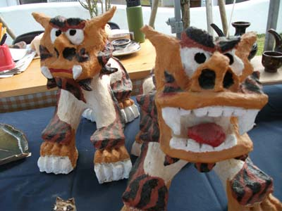 No Okinawan pottery fair would be real without shisa.