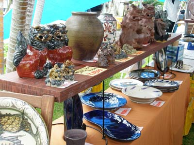The emphasis at the exhibition is on wares that can be used every day at homes.