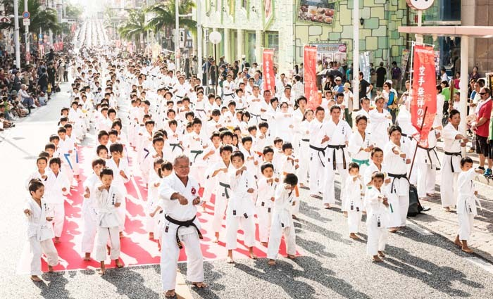 Organizers aim to bring 3,000 people on Kokusai Street to perform a simultaneous kata for a new record.