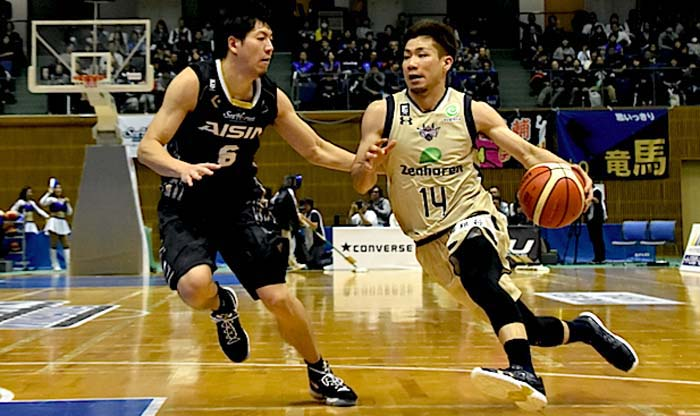 Ryuichi Kishimoto led the Kings Sunday with 23 points.