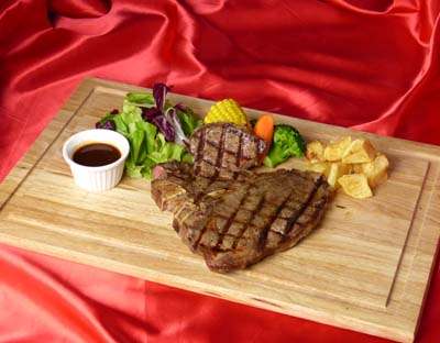 Emerald's T-bone steak.