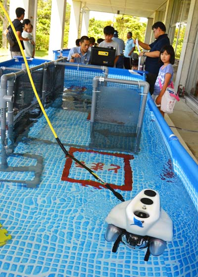 GODAC underwater robot is the absolute favorite among visitors to the open house events at the facility.