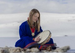 Marja Helena Fjellheim Mortensson from Hedmark, Norway, will sing Lapland folk songs called 'yoiku' at Garaman Hall on Friday.