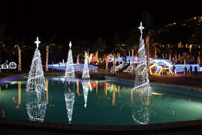 Year-end illumination at Kanucha Bay Resort was switched on Nov. 1, one of the first resorts to do so.