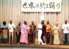 Students at JICA center showcase their own cultures.