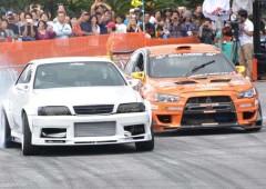 Drift drivers demonstrate their skills at Koza Motor Sports Festival.