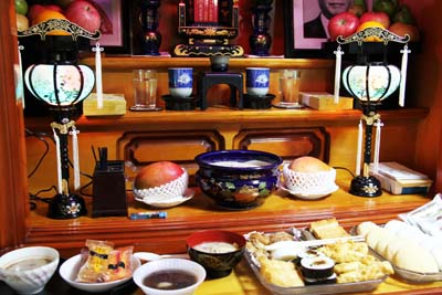 The centerpiece of Okinawan worship and religion is the home altar.