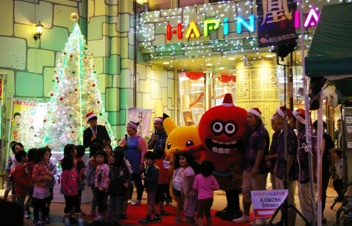 Hapinaha has now its year-end lights up and running.