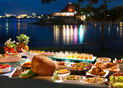 The buffet has more variety than most people can sample even on two meals.