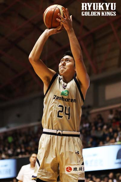 Naoki Tashiro delivered 23 points to Golden Kings on Sunday.
