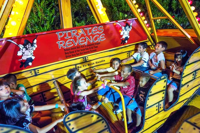 Kids have much fun with rides.
