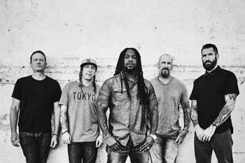 Alternative metal band SEVENDUST makes sure the audience does not sleep during its show at 7 p.m. on Saturday.