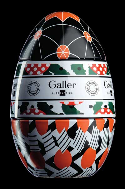 Chocolate egg by Galler.