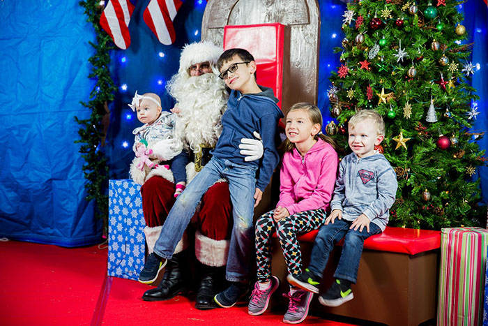 Every child's favorite man is waiting at Courtney Christmas Fest on both days.