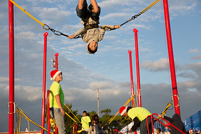 Besides live entertainment and delicious food, many exciting rides keep festival goers busy.